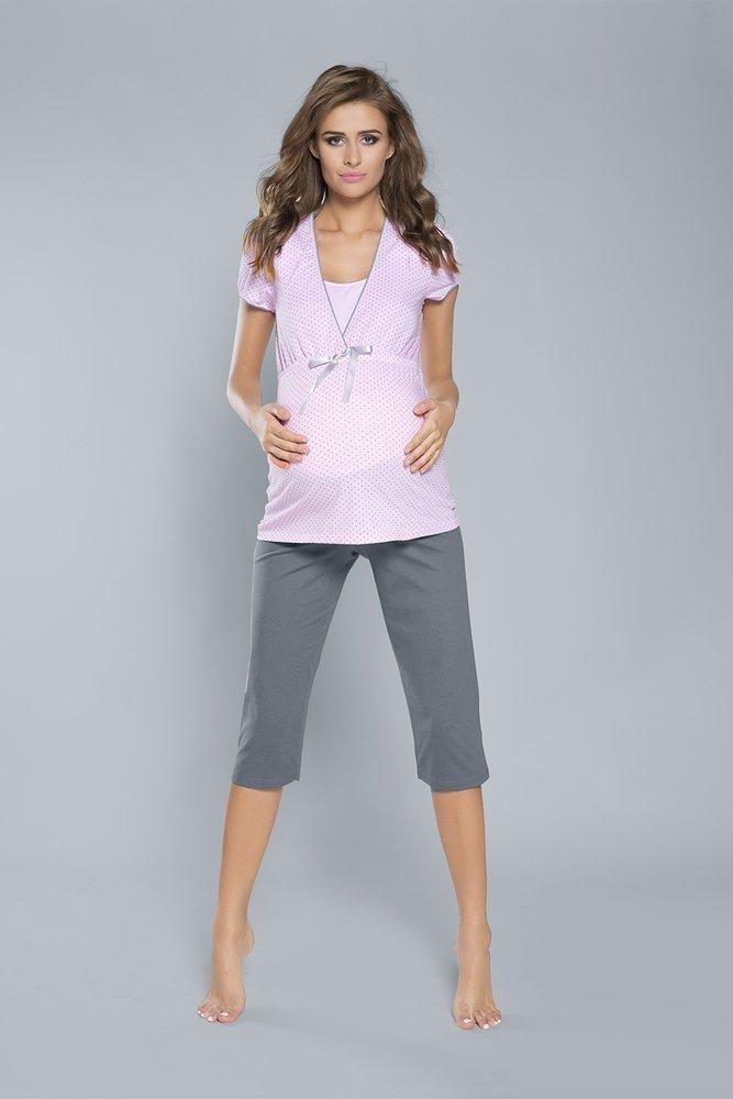 425a4a9b5783f5 Felicita piżama damska krótki rękaw- NIEBIESKA niebieski | Piżamy ...
